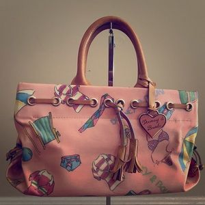 Summer themed Dooney pink bag